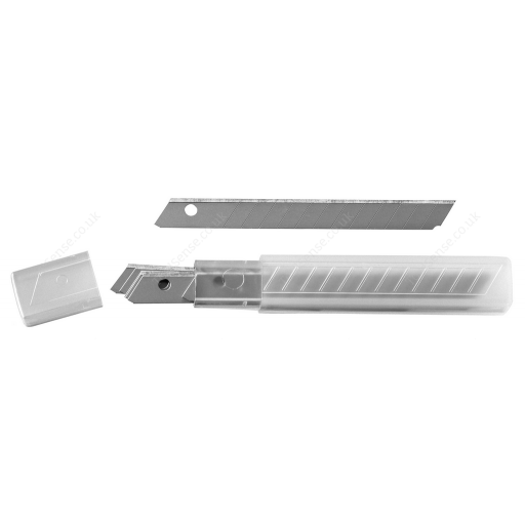 BRITOOL EXPERT E020303B 10 KNIFE BLADES 9MM IN PLASTIC BOX