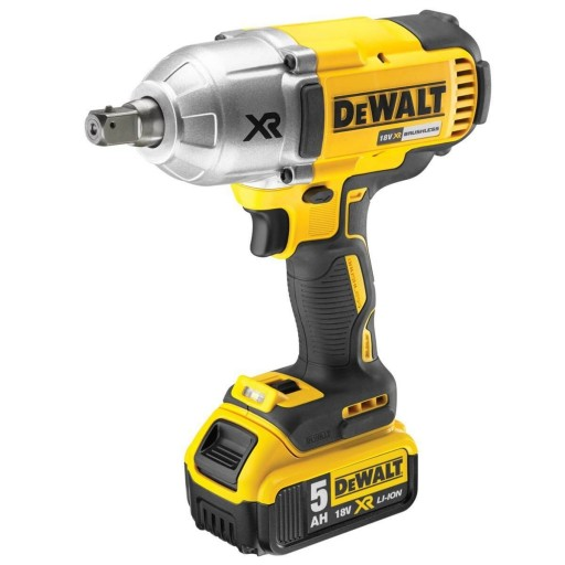 DeWalt DCF899P2-GB XR 18v Brushless 3 Speed High Torque Impact Wrench with 2 x 5ah Batteries & Carry Case  