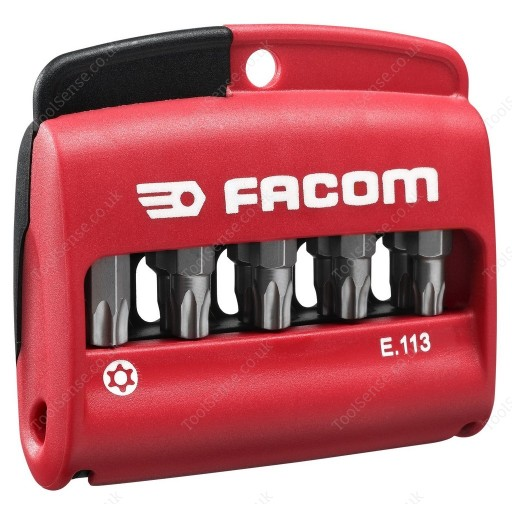 FACOM E.113 11 PIECE SECURITY RESISTORX ( TORX ) SERIES SCREWDRIVER BIT SET