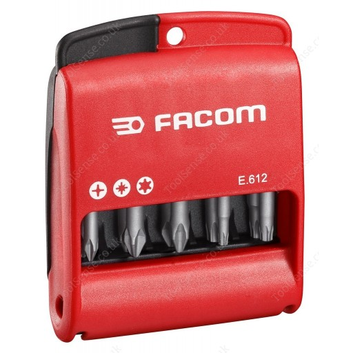 FACOM E.612 10 PIECE HIGH PERFORMANCE BIT SET - 50MM