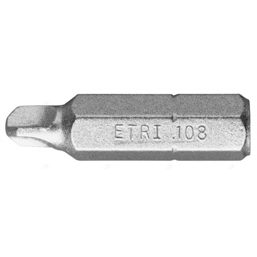 FACOM ETRI.101 1/4 HEXAGONAL ( HEX / HEXAGON ) TRI-WING SECURITY SCREWDRIVER INSERT BIT - TW0 X 25MM LONG