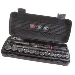 Facom SJ.431A 21 Piece Ratchet Socket Set 1/2 in Square Drive