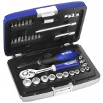 "BRITOOL EXPERT 34 PIECE 1/4"" SD METRIC SOCKET SET E194672B"