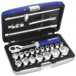 "BRITOOL EXPERT 22 PIECE 1/2"" SD METRIC SOCKET SET E032900B"
