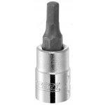 "BRITOOL EXPERT E030102B 1/4"" DRIVE HEX SCREWDRIVER BIT SOCKET 2.5MM"