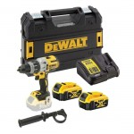 DeWalt DCD996P2-GB - 18V XR Brushless 3 speed Hammer Drill Driver - 2 x 5.0ah |