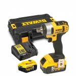 DeWalt DCF880P2-GB - XR Compact Impact Wrench 18 Volt with 2 x 5.0ah Li-Ion Battery, charger and case ]