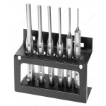 FACOM 248.JS6 LONG DRIFT PUNCH SET - 2, 3, 4, 5, 6 & 8MM IN METAL STAND