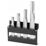 FACOM 262A.JS4 SET OF RIBBED CHISELS ON HOLDER