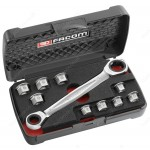 "FACOM 464.J1 FLAT TIGHTENING CASE ""11 IN 1"""
