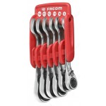 FACOM 467S.JP6 SHORT RATCHET COMBINATION WRENCH SETS IN PORTABLE CASE