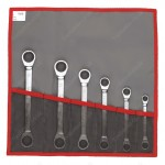 FACOM 64.JE6T 64 - SETS OF METRIC AND INCH STRAIGHT RATCHET RING WRENCHES