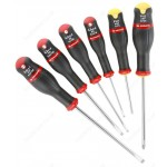 FACOM ASP.J6 6 PIECE PROTWIST SCREWDRIVER SET - SLOTTED ( FLAT / FLATHEAD / SLOT ) HEAD & PHILLIPS