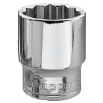 "FACOM J.1/2 3/8"" DRIVE BI-HEXAGON (12 POINT) STANDARD OGV SOCKET - 1/2"" DRIVE AF"