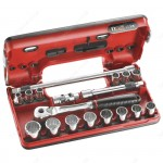 "FACOM JL.DBOX501 3/8"" DRIVE DETECTION BOX 12 POINT COMPACT SOCKET SET"