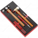 FACOM MODM.MI4 HAMMER, MALLET, CHISEL, CENTRE PUNCH, AND LONG DRIFT PUNCHES 4 - 5 - 6MM MODULE SET