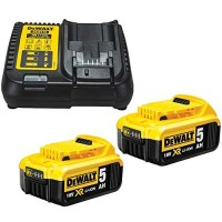 DeWalt TWIN_DCB184_AND_DCB115_PACK - 2 x Dewalt DCB184 5.0ah 18v XR Lithium Ion Battery & 1 x DCB115 Charger Pack |