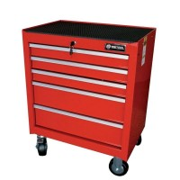 BRITOOL EXPERT E010138B CLASSIC ROLLER CABINET 5 DRAWER - RED