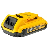 Dewalt DCB183 2 Ah Li-Ion Battery Pack, 18 V, Black/Yellow |