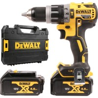 Dewalt DCD796M2-GB - 18v XR Brushless Compact Combi Drill with 2 x 4A Lithium-Ion Batteries ]