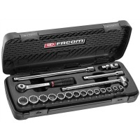 "FACOM - 3/8"" RATCHET & SOCKET SET - J.430AP"