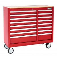 BRITOOL EXPERT E010148B WIDE CLASSIC ROLLER CABINET 16 DRAWER - RED