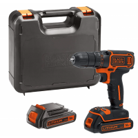 Black and Decker BDCDC18KB-GB - Cordless Drill Driver with Kitbox and 2 x 1.5 Ah Lithium Ion Batteries, 18 V |