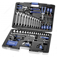 BRITOOL EXPERT E034806B 124 PIECE PORTABLE TOOL KIT / SOCKET, SPANNER SET