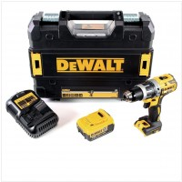 DEWALT DCD796M1 - 18v XR Brushless Compact Combi Drill with 1 x 4A Lithium-Ion Batteries ]