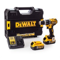 Dewalt DCD796P2-GB 18 V XR Brushless Compact Combi Drill with 2 x 5 A Lithium-Ion Batteries |