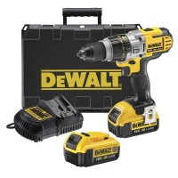 DeWalt DCD985M2-GB - 18V XR XRP Premium Hammer Drill 2 x 4.0Ah Batteries Charger & Kit Box |