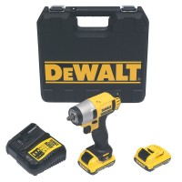 DeWalt DCF813D2-GB - 10.8V Impact Wrench 2 x 2.0Ah Batteries Multi Voltage Charger & Kit Box