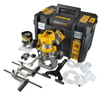 "Dewalt DCW604NT-XJ - 18V XR Brushless ¼"" Router With Fixed & Plunge Bases 