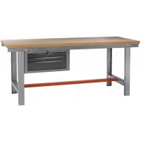 FACOM 2250.AT3 2M LONG WORKBENCH WITH A 3 DRAWER CABINET