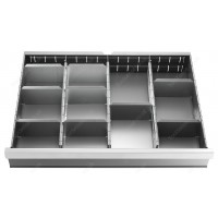 FACOM 2930.C2 SET OF 27 PARTITIONS FOR DRAWERS 75 MM WALL