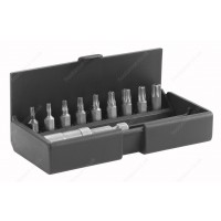 FACOM AME.B5 SET OF 9 BITS AND BIT HOLDER - SLOTTED, POZI, TORX