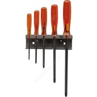 FACOM AS.4 5 PIECE ISORYL SCREWDRIVER SET ON A RACK