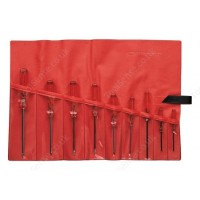 FACOM AT.J9 9 PIECE ISORYL SCREWDRIVER SET SUPPLIED IN A WALLET