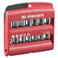 FACOM E.120 COMBINED SET OF 28 HIGH PERF' SERIES 1 BITS + BIT HOLDER |