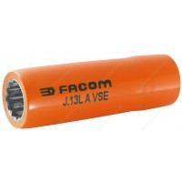 "FACOM J.8LAVSE 1000 V INSULATED 3/8"" DRIVE LONG REACH BI - HEXAGONAL ( HEX / HEXAGON ) SOCKET - 8"