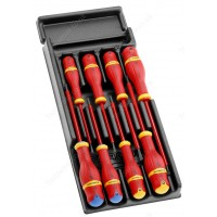 FACOM MOD.A1VE 8 PIECE 1000V INSULATED PROTWIST SCREWDRIVER MODULE