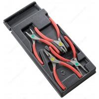FACOM MOD.PC 4 PIECE CIRCLIP PLIER SET IN PLASTIC TOOL BOX MODULE TRAY