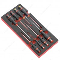 FACOM MODM.A1 8 PIECE SCREWDRIVER MODULE SET- SLOTTED ( FLAT / FLATHEAD / SLOT ) HEAD & PHILLIPS
