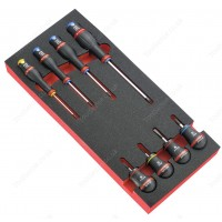 FACOM MODM.A3 8 PROTWIST® SCREWDRIVERS SET INCLUDING 4 BALL HANDLES IN FOAM TRAY