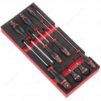FACOM MODM.A4 9 PROTWIST® SCREWDRIVERS SET INCLUDING 2 BALL HANDLES IN FOAM TRAY