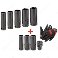 "FACOM NSB.EA 1/2"" DRIVE 8 PIECE THIN-WALL LONG IMPACT SOCKET SET"