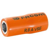 "FACOM R.8AVSE 1000 V INSULATED 1/4"" DRIVE SOCKET - 8MM"