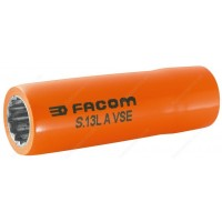 "FACOM S.13LAVSE 1000 V INSULATED 1/2"" DRIVE LONG REACH BI - HEXAGONAL ( HEX / HEXAGON ) SOCKET - 13MM"