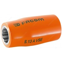 "FACOM S.8AVSE 1000 V INSULATED 1/2"" DRIVE BI - HEXAGONAL ( HEX / HEXAGON ) SOCKET - 8MM"