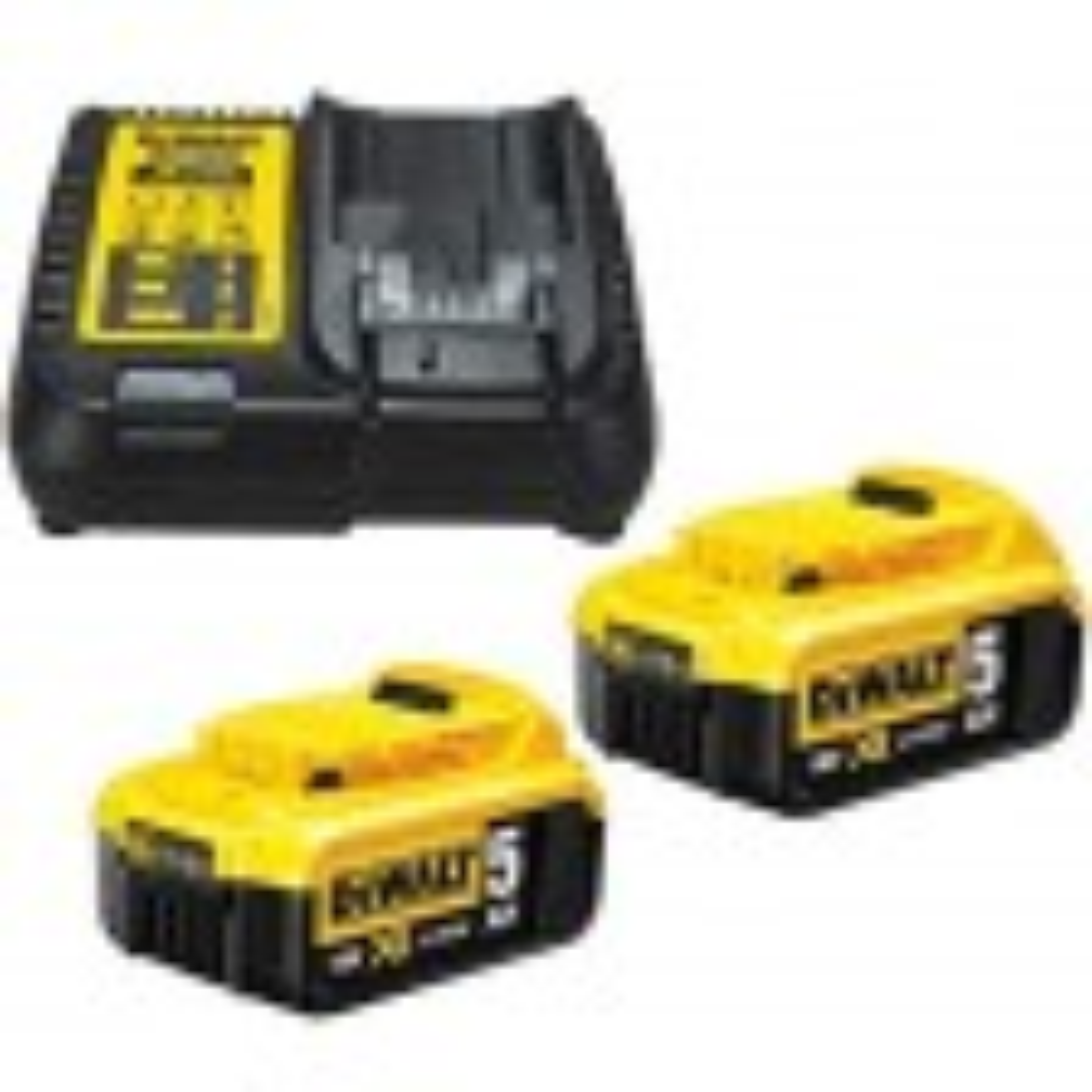 DeWalt TWIN_DCB184_AND_DCB115_PACK - 2 x Dewalt DCB184 5.0ah 18v XR Lithium Ion Battery & 1 x DCB115 Charger Pack  